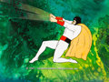 Animation Art:Presentation Cel, Space Ghost Publicity Cel with Master Production Background (Hanna-Barbera, 1966/67). ...