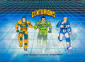Animation Art:Presentation Cel, The Centurions Title Cel and Key Master Painted BackgroundSetup(Ruby/Spears, 1986)....