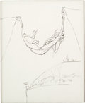Animation Art:Production Drawing, Wile E. Coyote Animation Drawing by Chuck Jones (Warner Brothers,c. 1990s)....