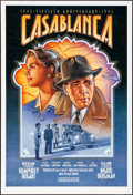 "Movie Posters:Academy Award Winners, Casablanca (Warner Brothers, R-1992). Rolled, Very Fine/Near Mint. 50th Anniversary One Sheet (27"" X 39.75"") SS, Dudek Laslo..."