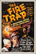 "Movie Posters:Crime, The Fire Trap (Empire, 1935). Very Fine- on Linen. One Sheet (27.5"" X 41""). Crime. From the Collection of Frank Buxton, of..."