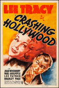 """Movie Posters:Comedy, Crashing Hollywood (RKO, 1938). Fine+ on Linen. One Sheet (27"""" X41""""). Comedy. From the Collection of Frank Buxton..."""