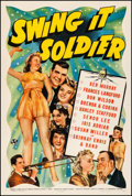 "Movie Posters:Comedy, Swing It Soldier (Universal, 1941). Fine/Very Fine on Linen. One Sheet (27"" X 41""). Comedy. From the Collection of Frank B..."