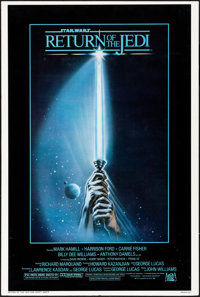 "Return of the Jedi (20th Century Fox, 1983). Very Good/Fine on Foam-Core. Trimmed One Sheet (27"" X 40"") Tim Re..."