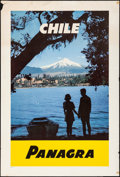 """Movie Posters, Chile: Panagra (Pan American-Grace Airways, 1950s). Rolled, Fine+. Travel Poster (28"""" X 41.5""""). Miscellaneous.. ..."""