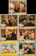 "Movie Posters:Comedy, Twin Beds (United Artists, 1942). Fine/Very Fine. Title Lobby Card& Lobby Cards (6) (11"" X 14""). Comedy.. ... (Total: 7 Items)"
