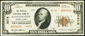 National Bank Notes:Pennsylvania, Ellwood City, PA - $10 1929 Ty. 2 The Peoples NB Ch. # 8678 Very Fine.. ...