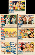 """Movie Posters:Comedy, Navy Blues (Warner Brothers, 1941). Fine+. Title Lobby Card &Lobby Cards (6) (11"""" X 14""""). Comedy.. ... (Total: 7 I..."""