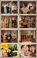"""Movie Posters:Comedy, Nearly Eighteen (Monogram, 1943). Very Fine-. Lobby Card Set of 8(11"""" X 14""""). Comedy.. ... (Total: 8 Items)"""