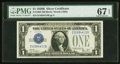 Small Size:Silver Certificates, Fr. 1602 $1 1928B Silver Certificate. PMG Superb Gem Unc 67 EPQ.. ...