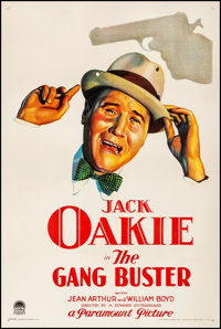 """The Gang Buster (Paramount, 1931). Fine/Very Fine on Linen. One Sheet (27"""" X 41""""). Comedy"""