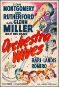 """Movie Posters:Musical, Orchestra Wives (20th Century Fox, 1942). Fine+ on Linen. One Sheet (27"""" X 41""""). Musical.. ..."""