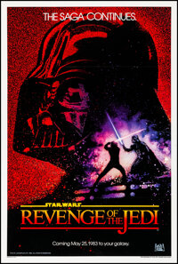 "Revenge of the Jedi (20th Century Fox, 1982). Very Fine- on Linen. One Sheet (27"" X 41""). Drew Struzan Artwork..."