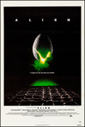 "Movie Posters:Science Fiction, Alien (20th Century Fox, 1979). Very Fine on Linen. One Sheet (27""X 41""). Science Fiction.. ..."