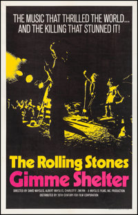 "Gimme Shelter (20th Century Fox, 1970). Very Fine- on Linen. International One Sheet (26.75"" X 41.75"") Yellow..."