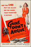"Movie Posters:Crime, Guns Don't Argue & Other Lot (Columbia, 1957). Folded, Fine/Very Fine. One Sheets (2) (27"" X 41""). Crime.. ... (Total: 2 Items)"
