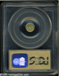 California Fractional Gold: , 1856 25C Liberty Round 25 Cents, BG-229, R.4, MS62 PCGS....