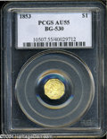 California Fractional Gold: , 1853 $1 Liberty Octagonal 1 Dollar, BG-530, R.2, AU55 PCGS....