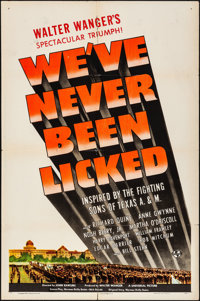 """We've Never Been Licked (Universal, 1943). Folded, Fine+. One Sheet (27"""" X 41""""). War"""