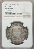 Colombia, Colombia: Nueva Granada 8 Reales 1847-BOGOTA VF Details (Cleaned) NGC,...