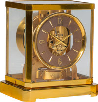 A Jaeger-LeCoultre Brass and Glass Atmos Clock, Le Sentier, Le Chenit, Switzerland, circa 1970 Marks to mechanism:
