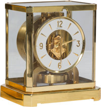 A Jaeger-LeCoultre Brass and Glass Atmos Clock, Le Sentier, Le Chenit, Switzerland, circa 1960 Marks to mechanism: