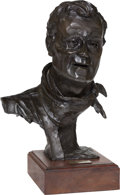 Sculpture, Gallagher Rule (American, b. 1930). John Wayne II, 1979. Bronze with dark brown patina. 11 inches (27.9 cm) high on a 2 ...