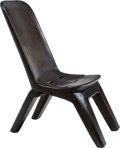 Furniture , A Narra Wood Collapsible Chair, 20th century . 36 x 16 x 28 inches (91.4 x 40.6 x 71.1 cm). ...