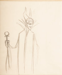 Sleeping Beauty Maleficent Animation Drawing (Walt Disney, 1959)