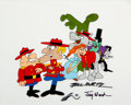 Animation Art:Presentation Cel, The Rocky and Bullwinkle Dudley Do-Right and Friends SignedScene Cel (Jay Ward, 1989)....