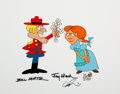 Animation Art:Presentation Cel, Dudley Do-Right and Nell Signed Scene Cel (Jay Ward, 1988)....