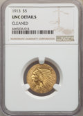 Indian Half Eagles, 1913 $5 -- Cleaned -- NGC Details. Unc. NGC Census: (382/9308). PCGS Population: (278/6723). MS60. Mintage 915,900....