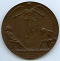 1898 National Conference of Charities and Correction Medal. Smedley-27, Miller-ANS-12. Bronze, 76 mm. Engraver is Victor...