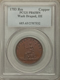 Colonials, 1783 Washington & Independence Cent, Draped Bust, No Button,Copper Restrike, Engrailed Edge, PR65 Brown PCGS. PCGS Popula...