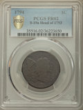 Large Cents, 1794 1C Head of 1793, S-19a, B-3a, High R.5, Fair 2 PCGS. PCGS Population: (1/3 and 0/0+). NGC Census: (1/0 and 0/0+)....