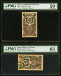 Japan Ministry of Finance 10 Sen; 20 Sen ND (1872) Picks 1; 2 JNDA 11-9; 11-9 PMG About Uncirculated 50 EPQ; Choic