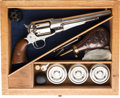 Handguns:Single Action Revolver, Cased Remington New Model Single Action Revolver.. ...