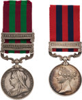 Militaria:Insignia, British Queen's India General Service Medal 1854 and Queen's India Medal 1895.. ... (Total: 2 Items)