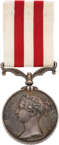 Militaria:Uniforms, British Indian Mutiny Campaign Medal to a Soldier in the 43rd Light Infantry.. ...