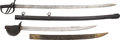 Edged Weapons:Swords, French M1833 Naval Cutlass and British Pattern 1853 Cavalry Sword.. ... (Total: 2 Items)