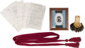 Military & Patriotic:Civil War, Sword, Officers' Sash, Epaulet and Shoulder Straps Attributed to Lt. Edward T. Durant, Co. B, 33rd Illinois Volunteer Infantry... (Total: 4 Items)
