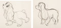 Animation Art:Production Drawing, Lady and the Tramp Animation Drawings Set of 6 (Walt Disney, 1955).... (Total: 6 Original Art)