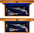 Handguns:Single Action Revolver, Lot of Two Cased Reproduction Remington Single Action Revolvers.. ... (Total: 2 )