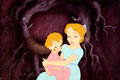 Animation Art:Production Cel, Peter Pan Wendy and Michael Production Cel (Walt Disney, 1953). ...