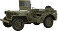 Collectible, Fine Art Models Model MB 1/4-Ton 4X4 Willys Jeep Replica, 1992. Serial number 20201003. Ed. 104/250. 9 x 16 x 8 ...