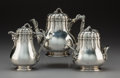 Silver & Vertu, A Diminutive Three-Piece Tiffany & Co. Silver Tea Service, New York, 1854-1870. Marks: TIFFANY & CO., M, 454, QUALITY 925-... (Total: 3 Items)