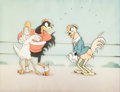 Animation Art:Production Cel, Cock o' the Walk Production Cel Setup with Custom Background(Walt Disney, 1935)....
