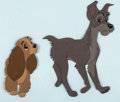 Animation Art:Production Cel, Lady and the Tramp Lady and Tramp Production Cel (WaltDisney, 1955)....