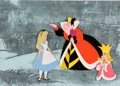 Animation Art:Production Cel, Alice in Wonderland Alice with Queen and King of Hearts Production Cel Setup (Walt Disney, 1951)....