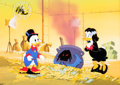 Animation Art:Production Cel, DuckTales Scrooge McDuck and Magica De Spell Production Celand Master Background Setup with Matching Animation Drawin...(Total: 6 Items)
